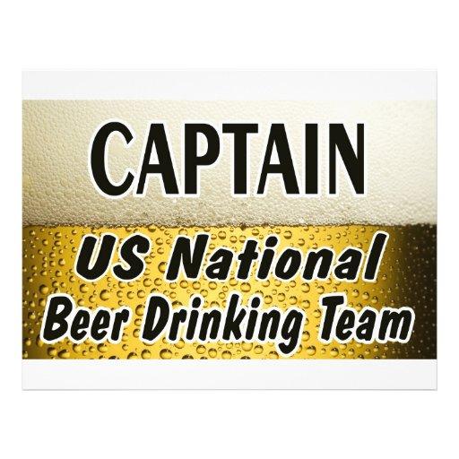 Equipe nacional do bebendo da cerveja dos E.U. Modelo De Panfleto