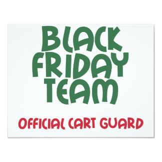 Equipe preta de sexta-feira: Guarda oficial do Convite 10.79 X 13.97cm
