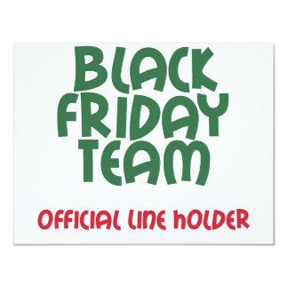 Equipe preta de sexta-feira: Linha oficial suporte Convite 10.79 X 13.97cm