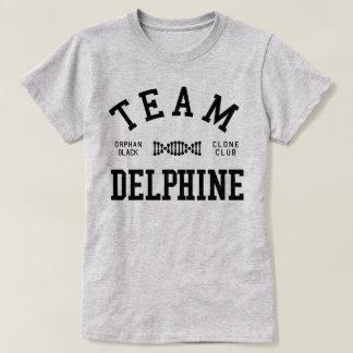 Equipe preta órfão Delphine Camiseta