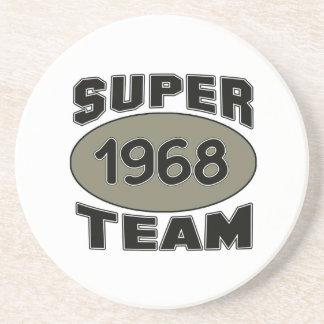 Equipe super 1968 porta copos de arenito