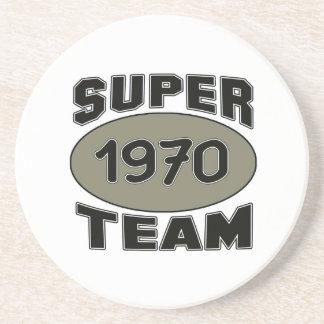 Equipe super 1970 porta copos de arenito