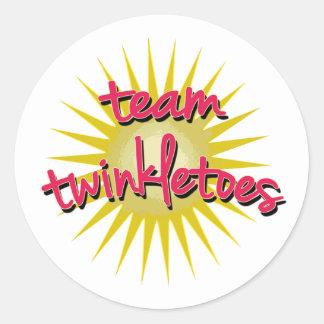 Equipe Twinkletoes com Starburst Adesivos Em Formato Redondos