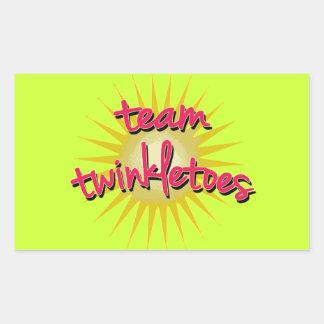 Equipe Twinkletoes com Starburst Adesivo Retangular