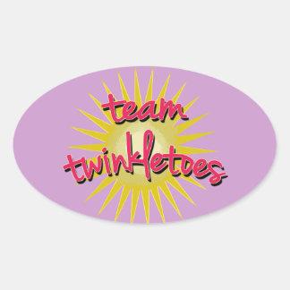 Equipe Twinkletoes com Starburst Adesivos Em Formato Oval
