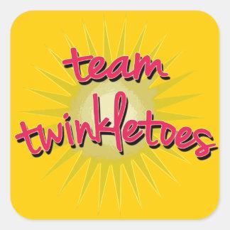 Equipe Twinkletoes com Starburst Adesivo Em Forma Quadrada