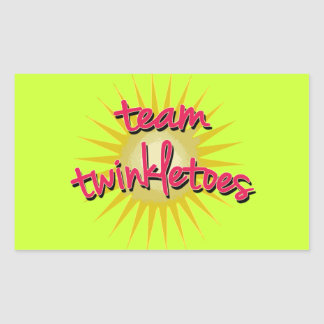 Equipe Twinkletoes com Starburst Adesivos Retangular