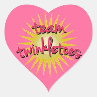 Equipe Twinkletoes com Starburst Adesivo De Coração