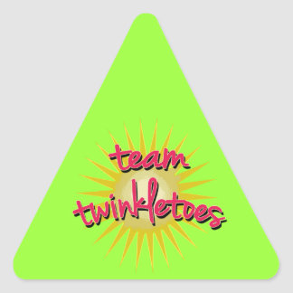 Equipe Twinkletoes com Starburst Adesivo Em Forma De Triângulo