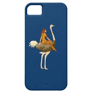 Equitação da avestruz capa para iPhone 5
