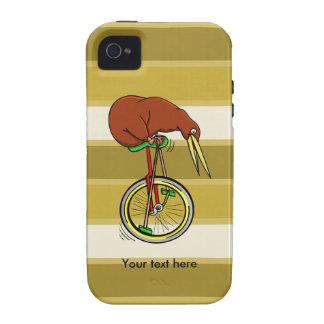 Equitação do quivi de Brown em um Unicycle Capinhas iPhone 4/4S