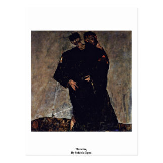 Eremitas, por Schiele Egon Cartões Postais