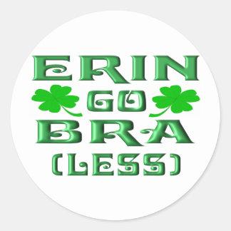 Erin vai o sutiã (menos) adesivo redondo