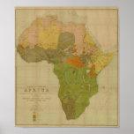 Ernest George Ravenstein - mapa da língua de Áfric Posteres