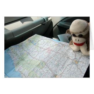 Ernie o cartão de nota da leitura de mapa do