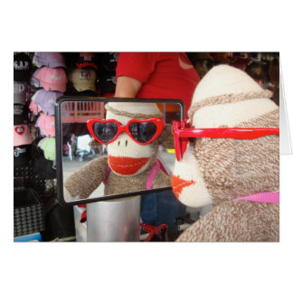 Ernie o cartão do dia dos namorados do macaco da