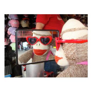 Ernie o cartão do macaco da peúga