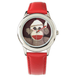 Ernie o relógio de pulso do macaco da peúga