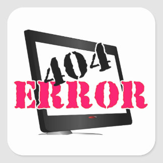 Erro 404 adesivos quadrados