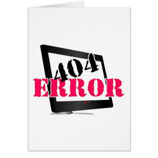 Erro 404 cartão comemorativo