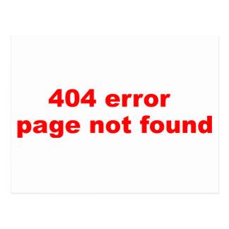 erro 404 cartão postal