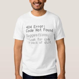 Erro 404: Codifique não encontrado Tshirts
