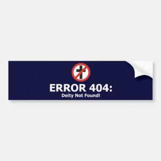 Erro 404: Deidade não encontrada Adesivo Para Carro