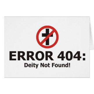 Erro 404: Deidade não encontrada Cartão