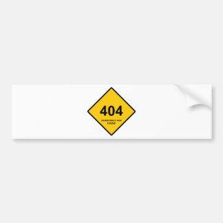 Erro 404: Democracia não encontrada Adesivo