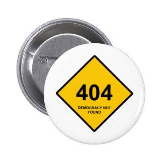 Erro 404 Democracia não encontrada Boton