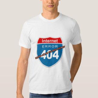 Erro 404 do Internet Camisetas