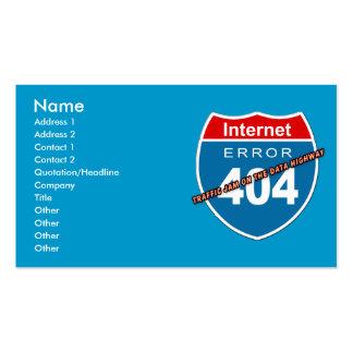 Erro 404 do Internet Cartão De Visita