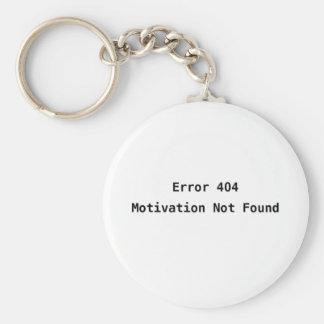 Erro 404 Motivação não encontrada Chaveiro