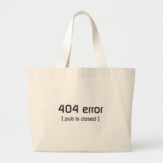 erro 404 - o bar é fechado bolsa de lona