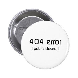 erro 404 - o bar é fechado boton