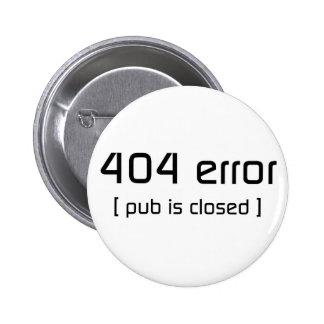 erro 404 - o bar é fechado botons