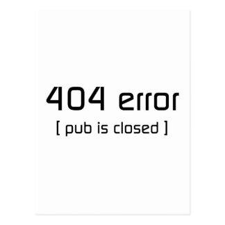 erro 404 - o bar é fechado cartões postais