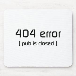 erro 404 - o bar é fechado mouse pads