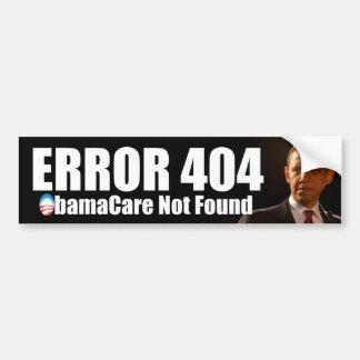 Erro 404 Obamacare não encontrado Adesivo
