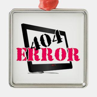 Erro 404 ornamento quadrado cor prata