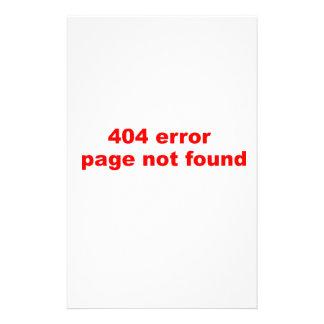 erro 404 papéis personalizados