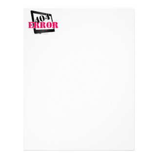 Erro 404 modelos de papel de carta