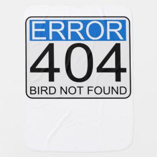 Erro 404 - Pássaro não encontrado Cobertor Para Bebe