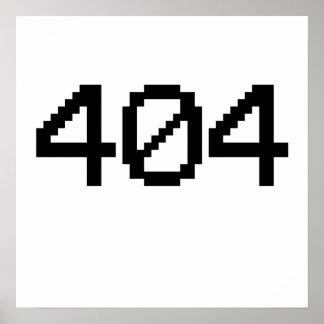 erro 404 posteres