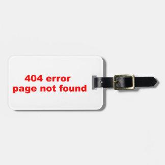 erro 404 etiquetas de malas de viagem