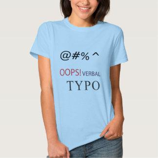 erro tipográfico verbal tshirt