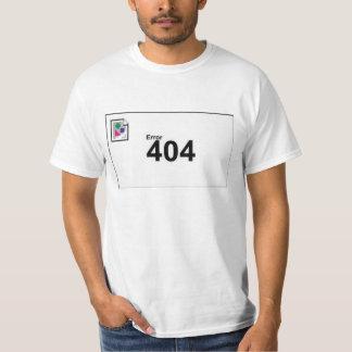 Error 404 camisetas