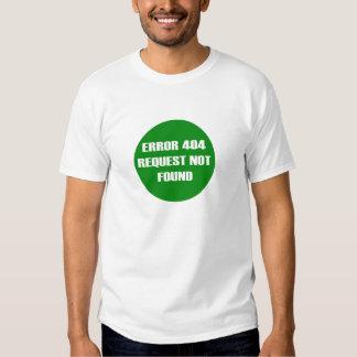 Error-404-Request-Not-Found Camisetas
