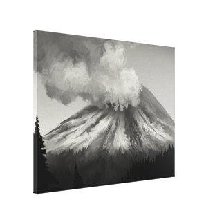 Erupção do Mt St Helens - impressão das canvas Impressão Em Tela