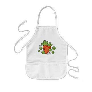 Ervilhas e cenouras aventais